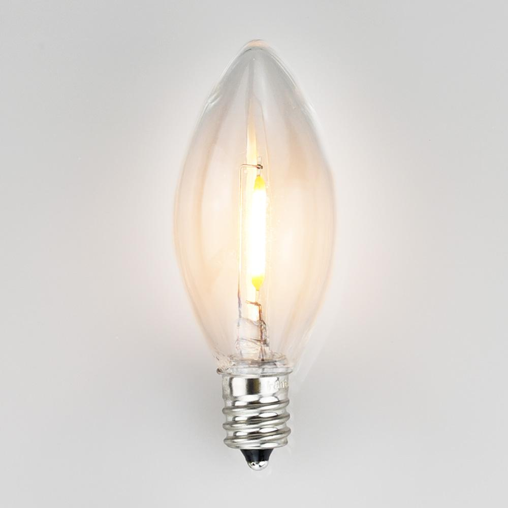 LED C-Style Light Bulbs (C7 C9 CA all Cone / Candle Light Bulbs)