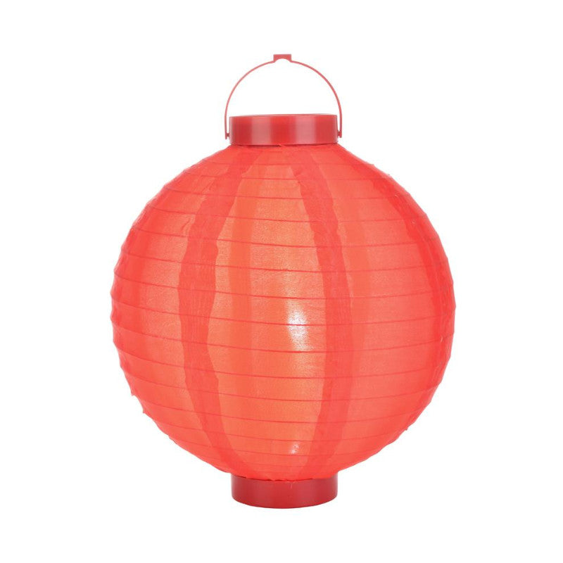 Red LED Round Nylon Battery Lantern