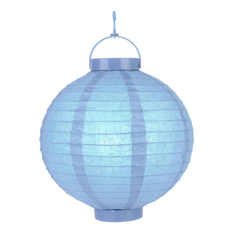Serenity Blue LED Round Paper Battery Lantern