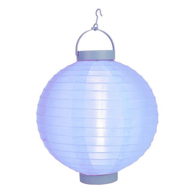 Serenity Blue LED Round Nylon Battery Lantern