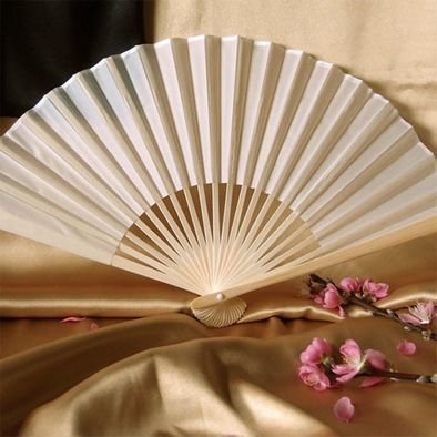 Silk Wedding Fans