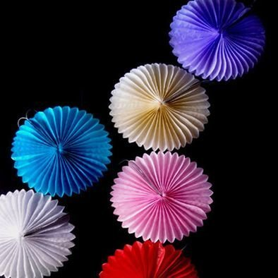 Tissue Paper Flower Rosette Fan Decorations