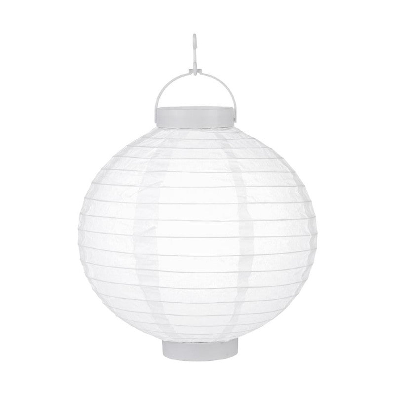 White LED Round Paper Battery Lantern