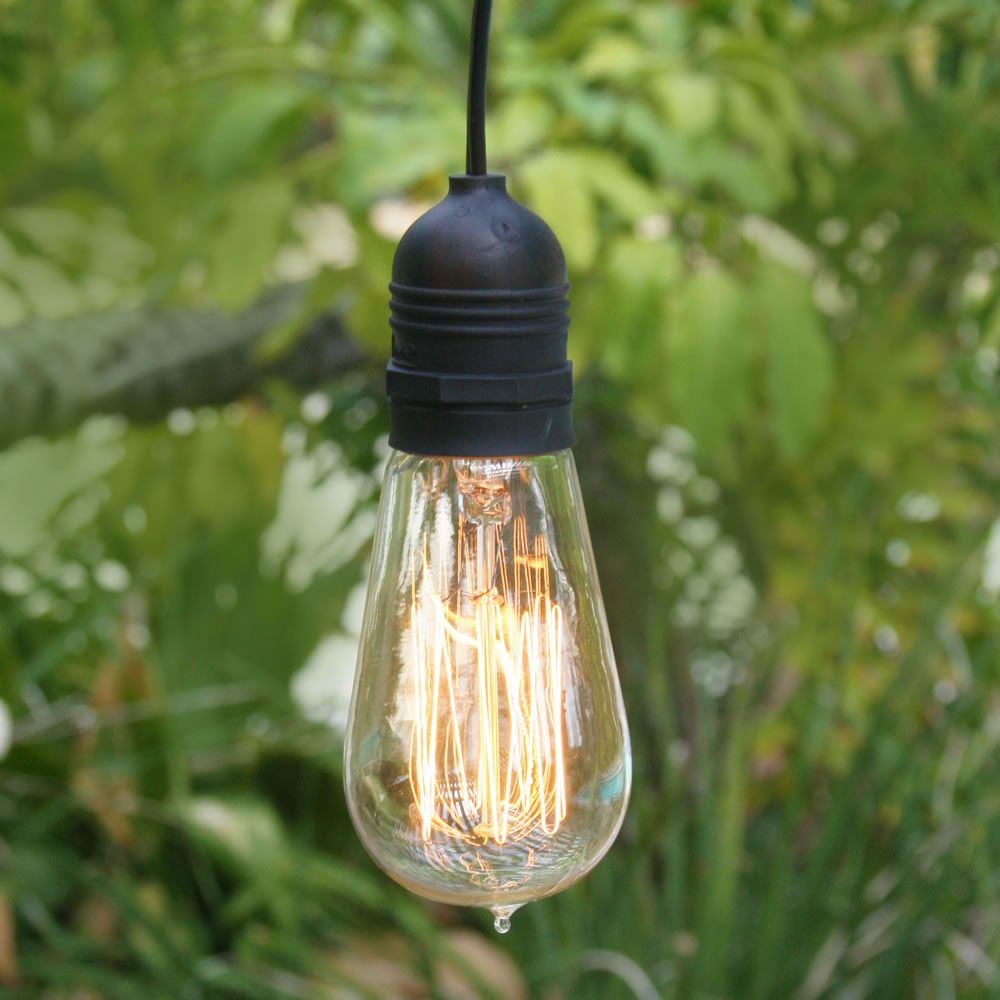 Hanging Outdoor Pendant Lamp Cord Kit with Bulb