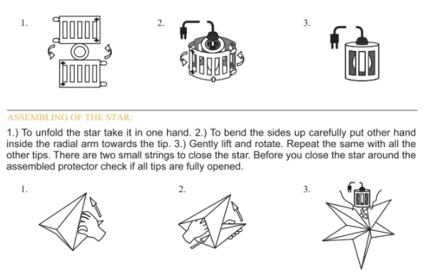 How To Assemble Star Lantern - Bulb Protector