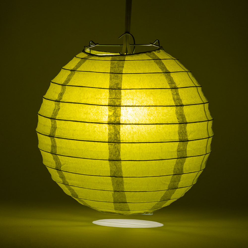 "6"" Pear Round Paper Lantern, Even Ribbing, Chinese Hanging Wedding & Party Decoration"