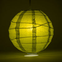 "6"" Pear Round Paper Lantern, Crisscross Ribbing, Chinese Hanging Wedding & Party Decoration - PaperLanternStore.com - Paper Lanterns, Decor, Party Lights & More"