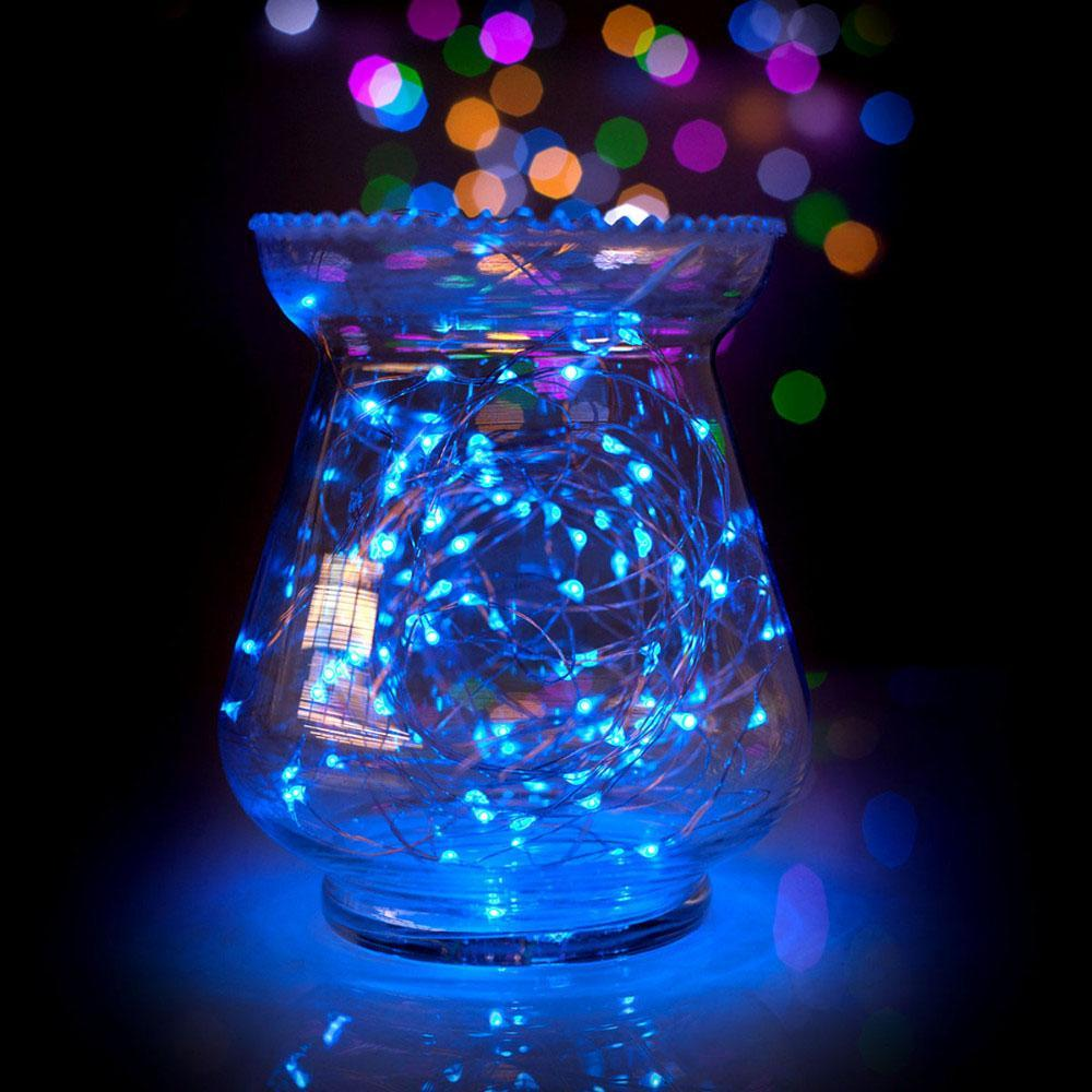 BLOWOUT 33 FT | 100 LED Blue Waterproof Micro Fairy String Lights With Power Adaptor - PaperLanternStore.com - Paper Lanterns, Decor, Party Lights & More