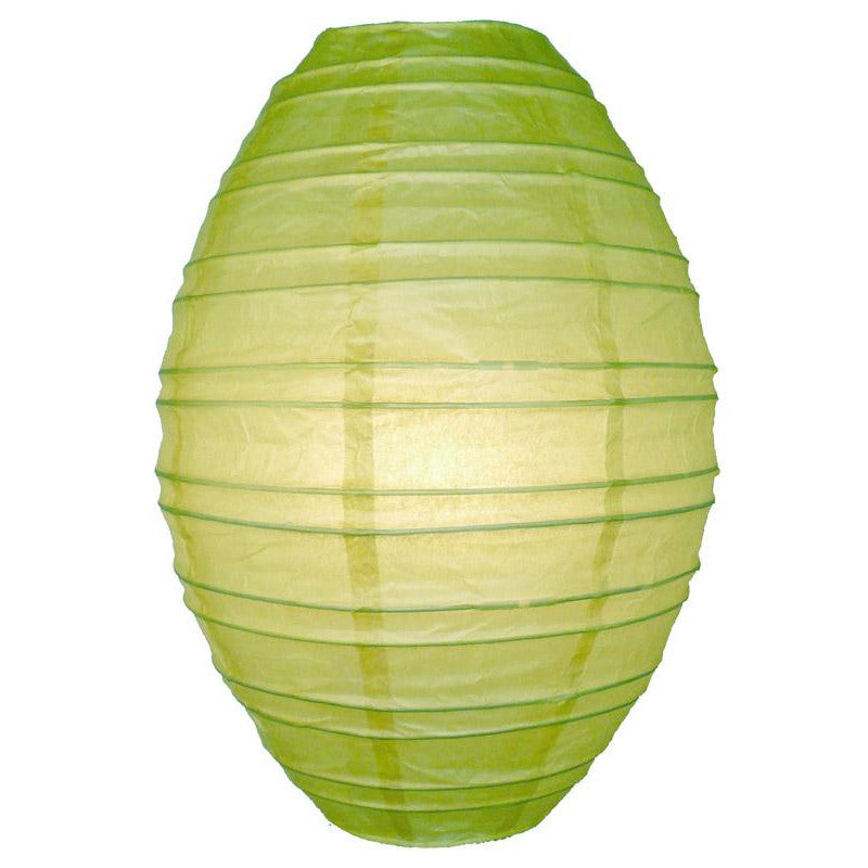 Light Lime Kawaii Unique Oval Egg Shaped Paper Lantern, 10-inch x 14-inch - PaperLanternStore.com - Paper Lanterns, Decor, Party Lights & More