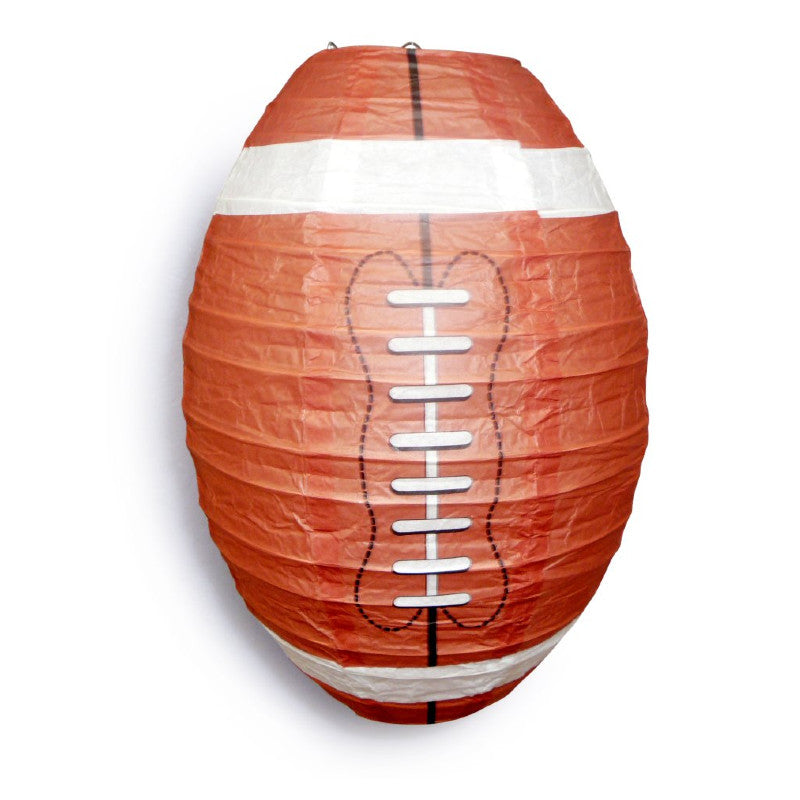 Football Paper Lantern Shaped Sports Hanging Decoration Novelty for Super Parties - PaperLanternStore.com - Paper Lanterns, Decor, Party Lights & More