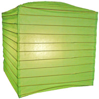 "10"" Light Lime Square Shaped Paper Lantern"