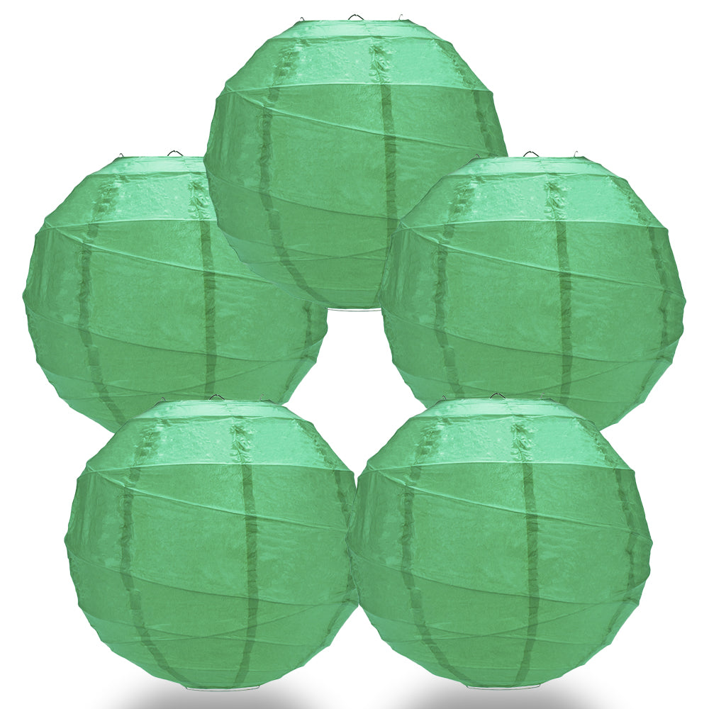 "5 PACK | 12""  Arcadia Teal Crisscross Ribbing, Hanging Paper Lanterns - PaperLanternStore.com - Paper Lanterns, Decor, Party Lights & More"