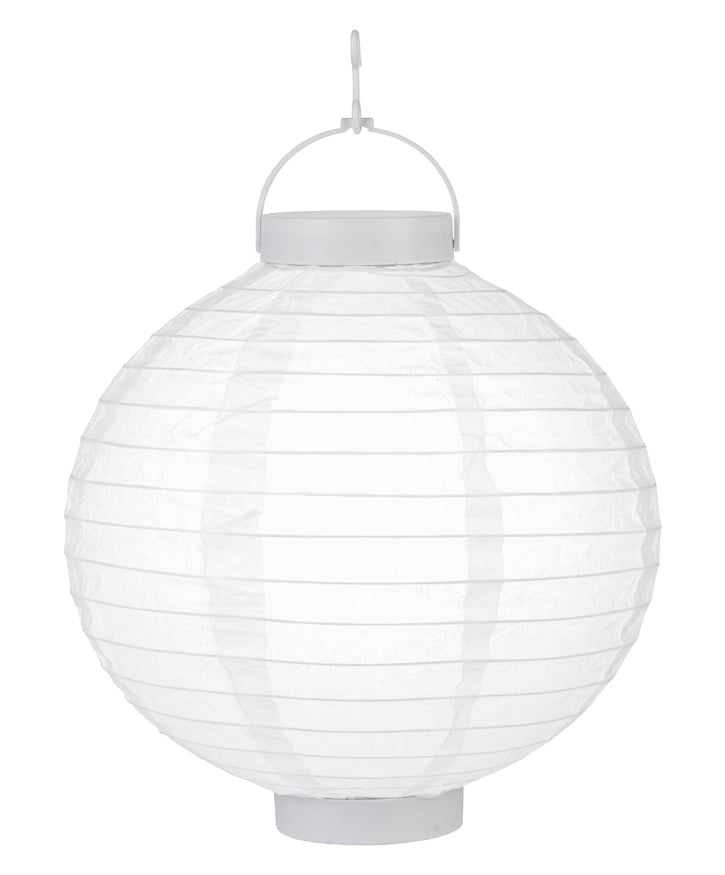 "BLOWOUT 12"" ""Budget Friendly"" Battery Operated LED Paper Lantern - White"
