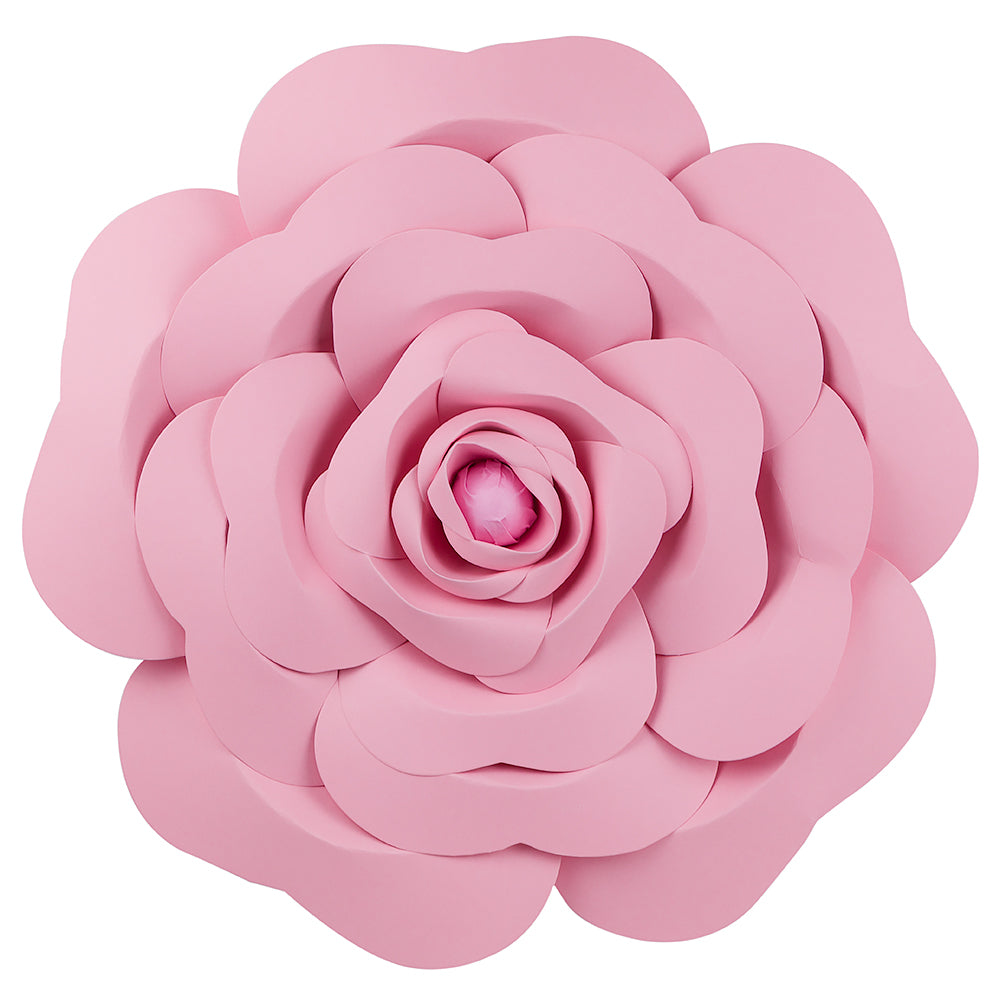 12-Pc Combo Pink Garden / Vanilla Cream Rose Paper Flower Backdrop Wall Decor for Weddings, Photo Shoots, Birthday Parties and More