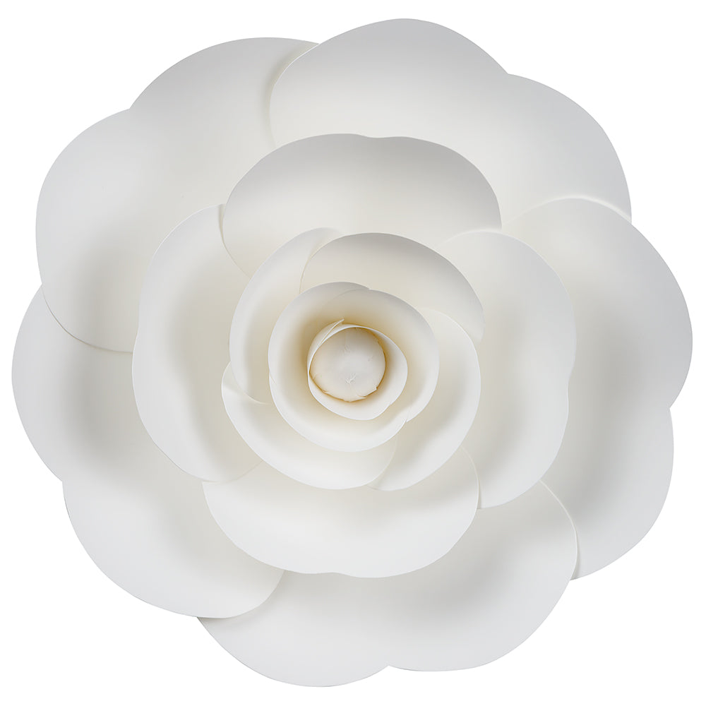 12-Pc Combo White Ranunculus Paper Flower Backdrop Wall Decor for Weddings, Photo Shoots, Birthday Parties and More