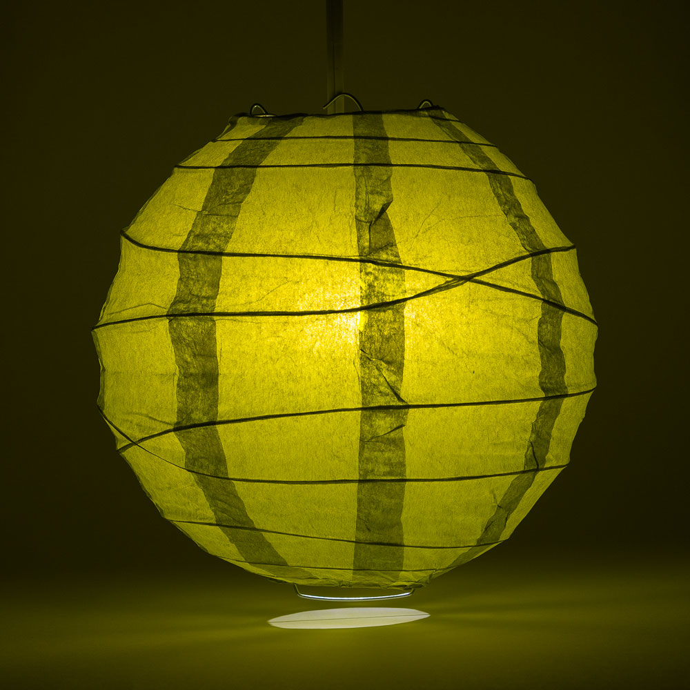 "8"" Pear Round Paper Lantern, Crisscross Ribbing, Chinese Hanging Wedding & Party Decoration"