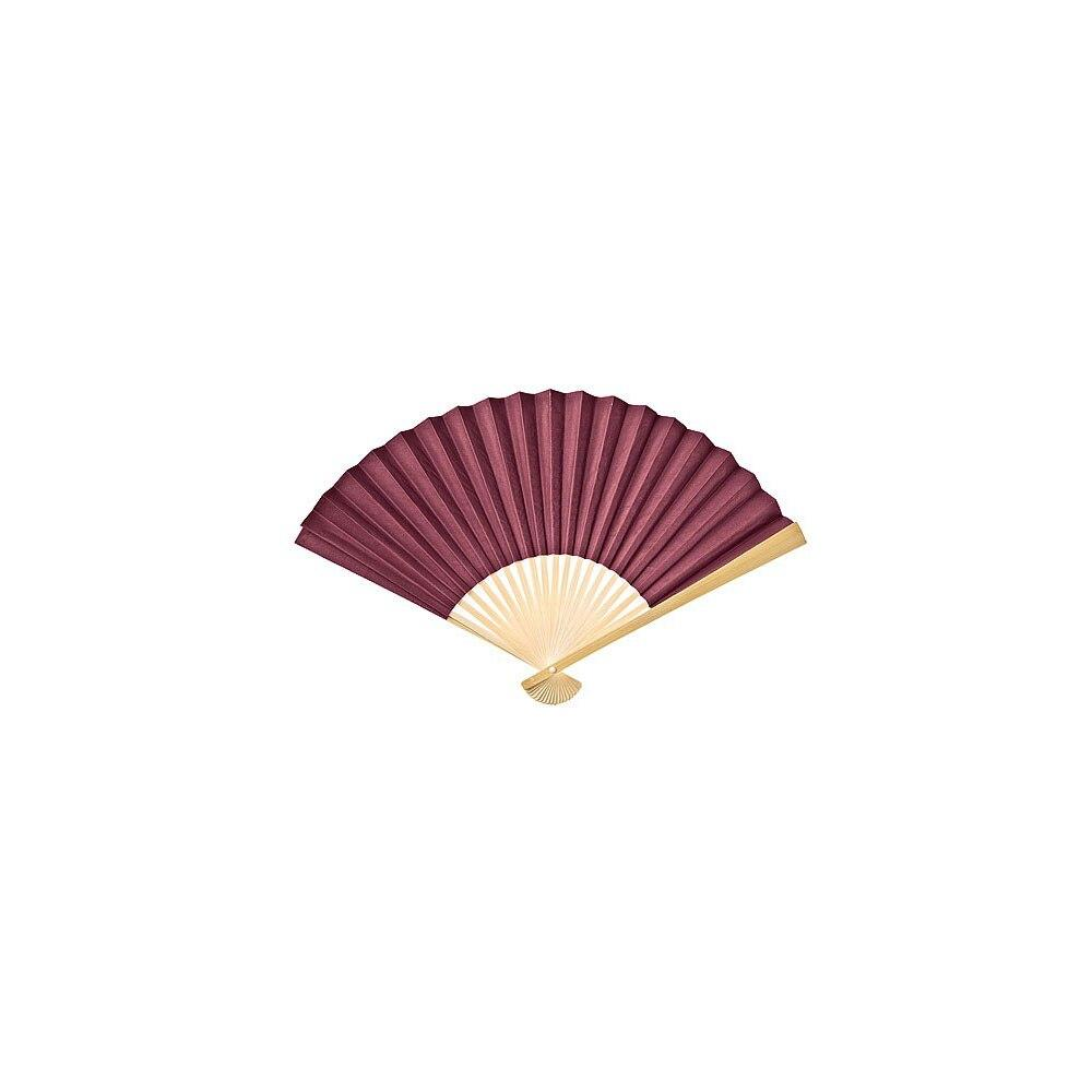 BLOWOUT Boysenberry Red Premium Paper Hand Fan, Set of 5 - PaperLanternStore.com - Paper Lanterns, Decor, Party Lights & More