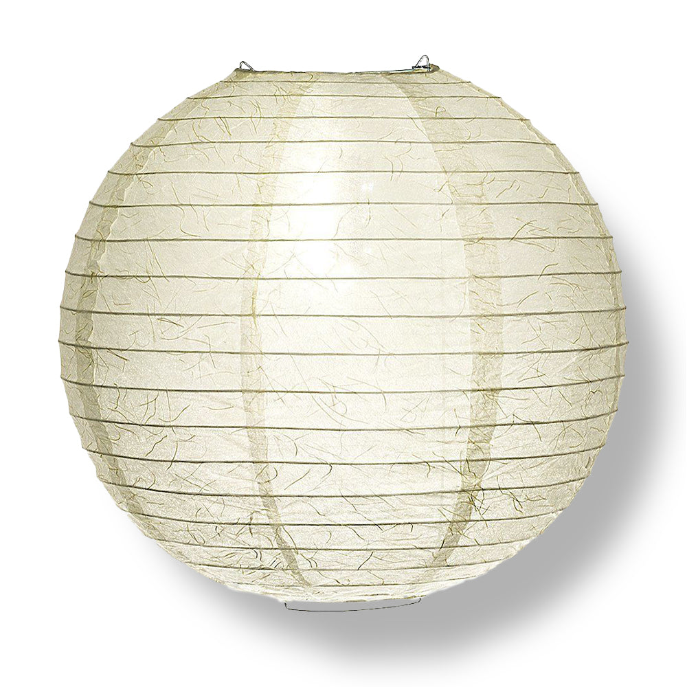Premium 12-Piece Ivory Phoenix Feather Paper Lantern Party Pack Set - PaperLanternStore.com - Paper Lanterns, Decor, Party Lights & More