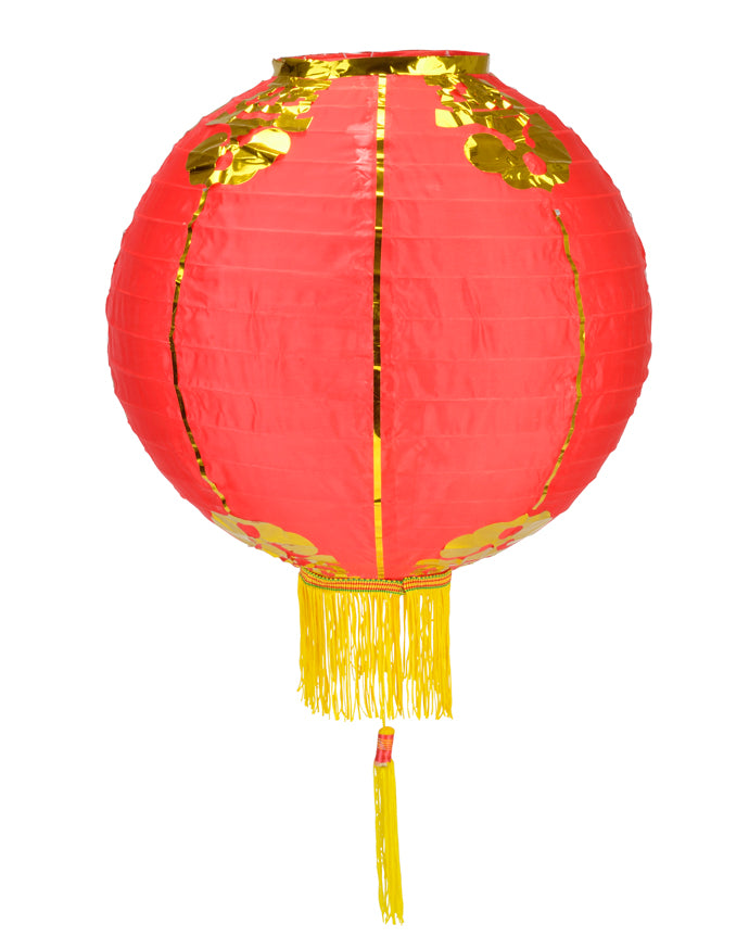 "14"" Red Traditional Nylon Chinese Lantern w/Tassel"