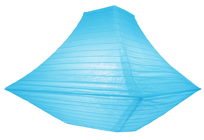 "14"" Turquoise Pagoda Paper Lantern - PaperLanternStore.com - Paper Lanterns, Decor, Party Lights & More"
