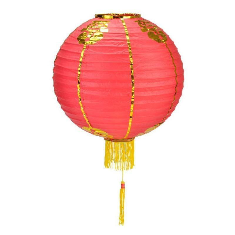 8 PACK | Red Yellow Traditional Chinese Lunar New Year Prosperity Paper Lantern, Hanging Combo Set - PaperLanternStore.com - Paper Lanterns, Decor, Party Lights & More