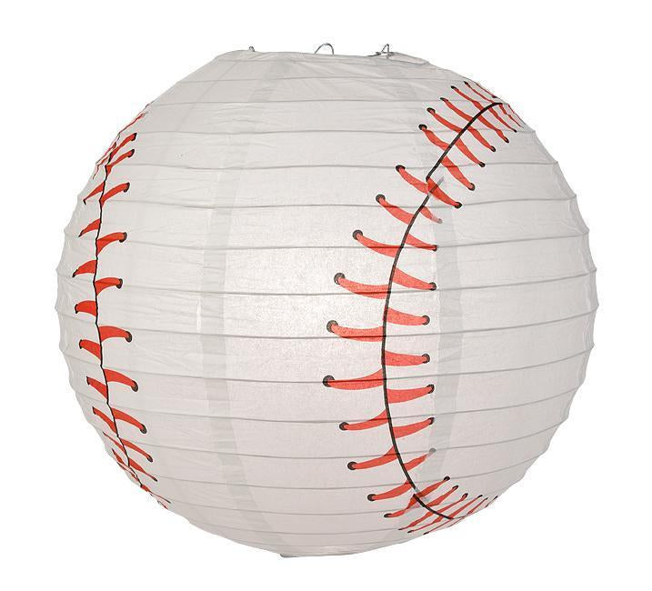Miami Pro Baseball 14-inch Paper Lanterns 5pc Combo Party Pack - Blue, Black, Red & Grey - PaperLanternStore.com - Paper Lanterns, Decor, Party Lights & More