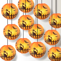 "12 PACK | 14"" Black Cat Halloween Paper Lantern - PaperLanternStore.com - Paper Lanterns, Decor, Party Lights & More"