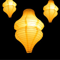 Yellow Beehive Unique Shaped Paper Lantern, 10-inch x 14-inch - PaperLanternStore.com - Paper Lanterns, Decor, Party Lights & More