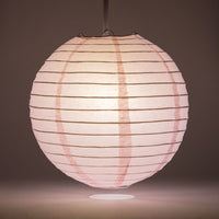 "8"" Pink Round Paper Lantern, Even Ribbing, Chinese Hanging Wedding & Party Decoration"