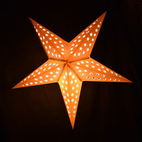 "24"" Solid White Stars Cut-Out Paper Star Lantern, Chinese Hanging Wedding & Party Decoration"