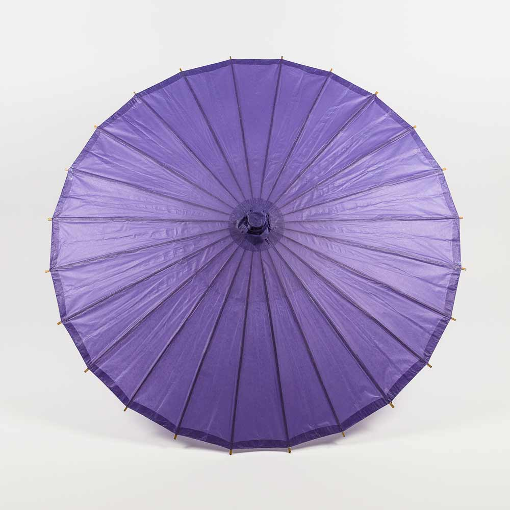 "28"" Purple Paper Parasol Umbrella (Sun Protection)"