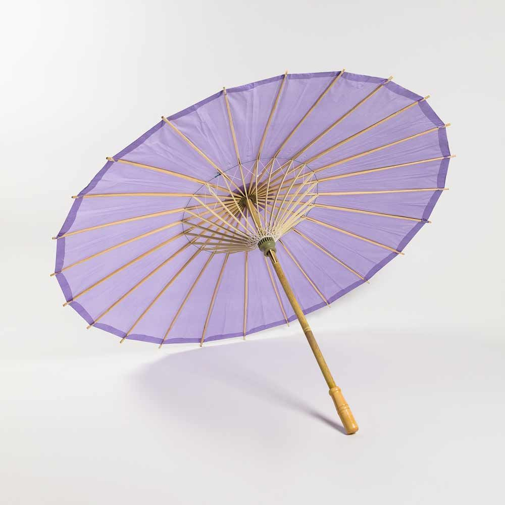 "28"" Lavender Paper Parasol Umbrella (Sun Protection)"