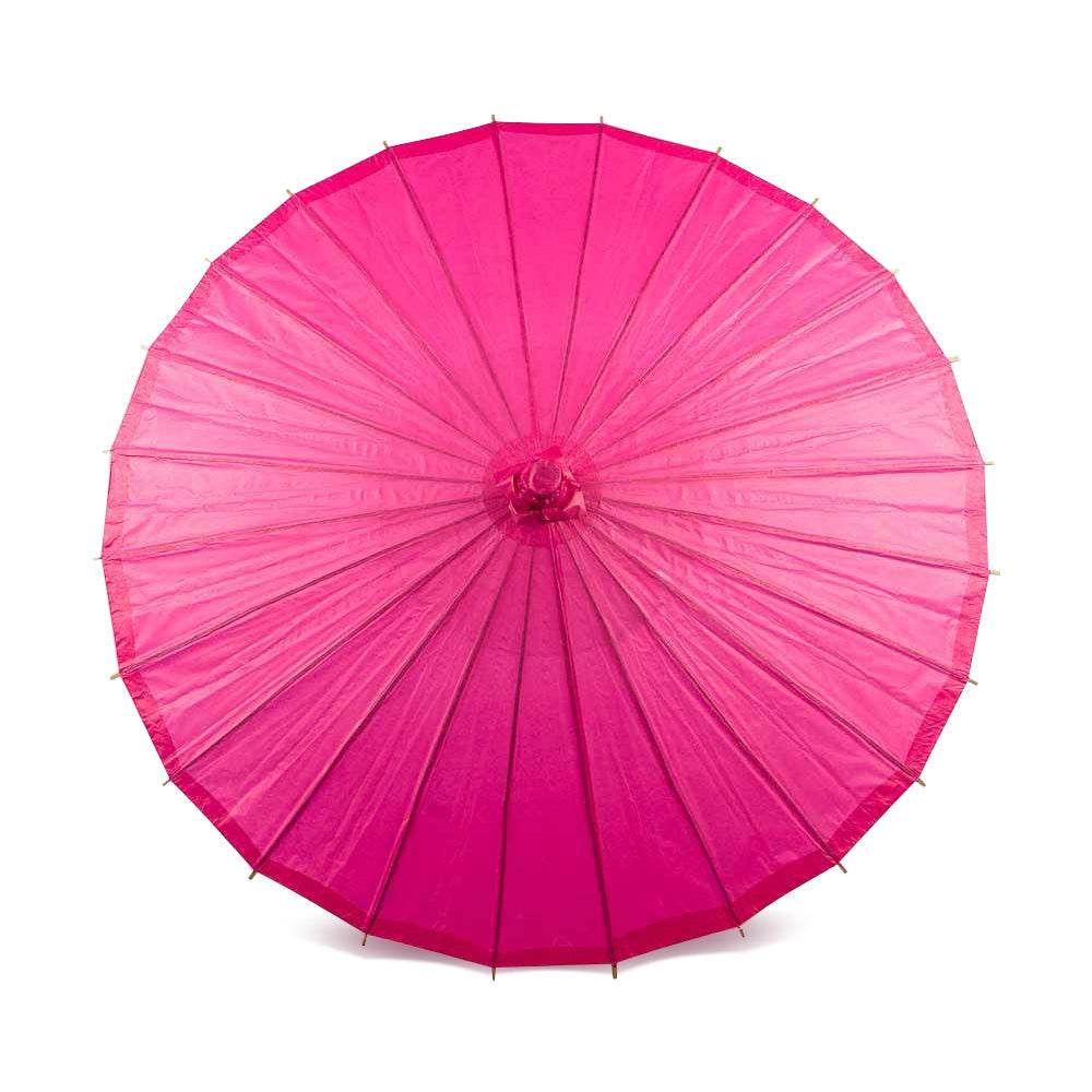 "32"" Fuchsia Paper Parasol Umbrella (Sun Protection)"