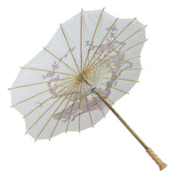 "32"" Cherry Blossom Paper Parasol Umbrella, Scallop Shaped (Sun Protection)"