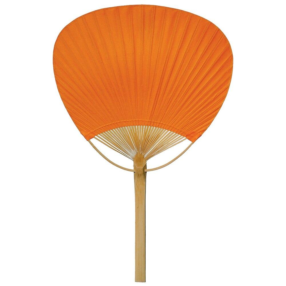 BLOWOUT Mango Orange Paper Paddle Fan - PaperLanternStore.com - Paper Lanterns, Decor, Party Lights & More