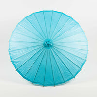 "32"" Water Blue Paper Parasol Umbrella (Sun Protection)"