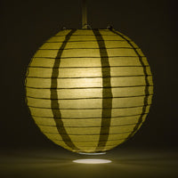 "36"" Gold Jumbo Round Paper Lantern, Even Ribbing, Chinese Hanging Wedding & Party Decoration"