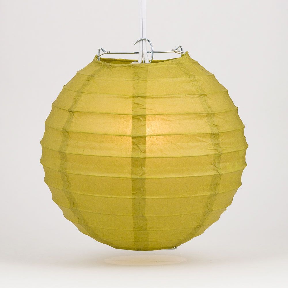 "36"" Pear Jumbo Round Paper Lantern, Even Ribbing, Chinese Hanging Wedding & Party Decoration"