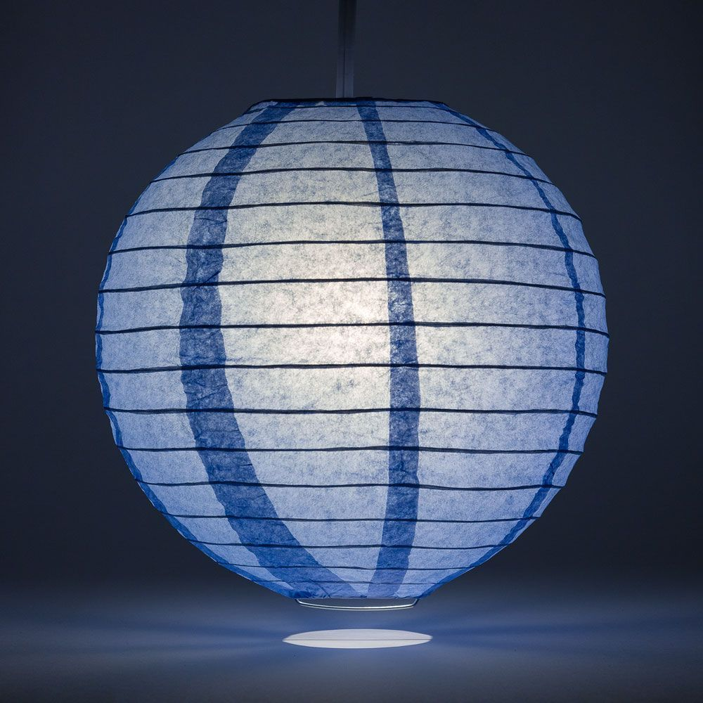 "36"" Serenity Blue Jumbo Round Paper Lantern, Even Ribbing, Chinese Hanging Wedding & Party Decoration - PaperLanternStore.com - Paper Lanterns, Decor, Party Lights & More"