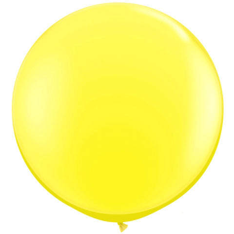 "BLOWOUT 36"" Yellow Round Party Latex Balloon Decorations (2 PACK)"