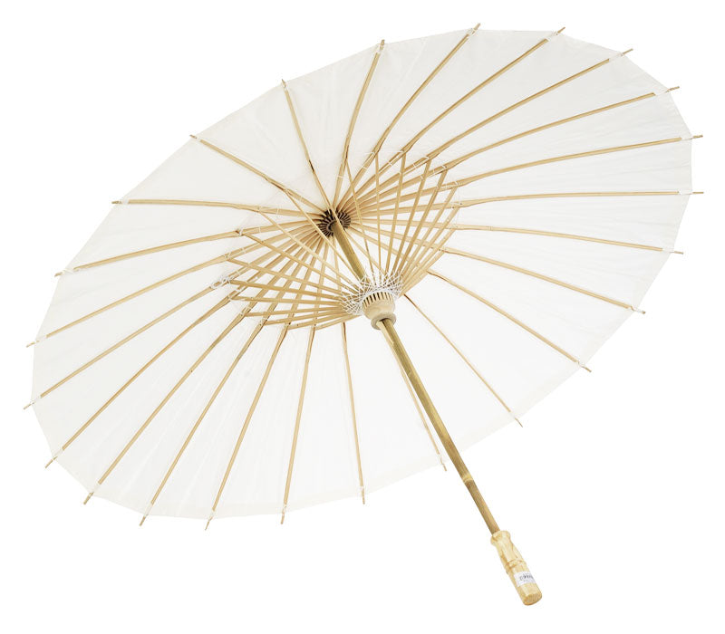 "38"" White Paper Parasol Umbrella (Sun Protection)"
