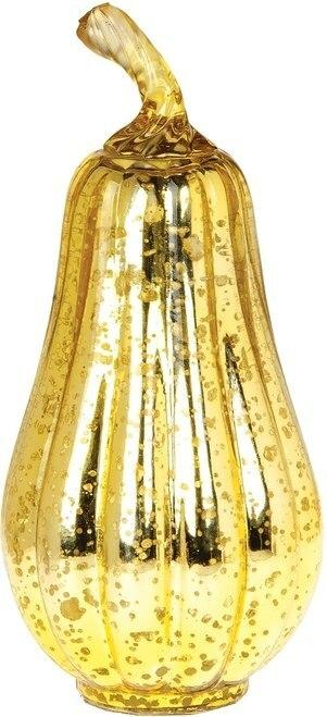 BLOWOUT Gold Mercury Glass Tabletop Gourd - PaperLanternStore.com - Paper Lanterns, Decor, Party Lights & More