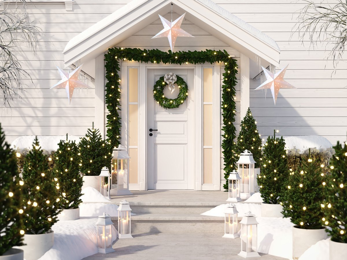 "3-PACK + CORD | 12"" White Plastic Star Lantern Lamp, Hanging Decoration - PaperLanternStore.com - Paper Lanterns, Decor, Party Lights & More"
