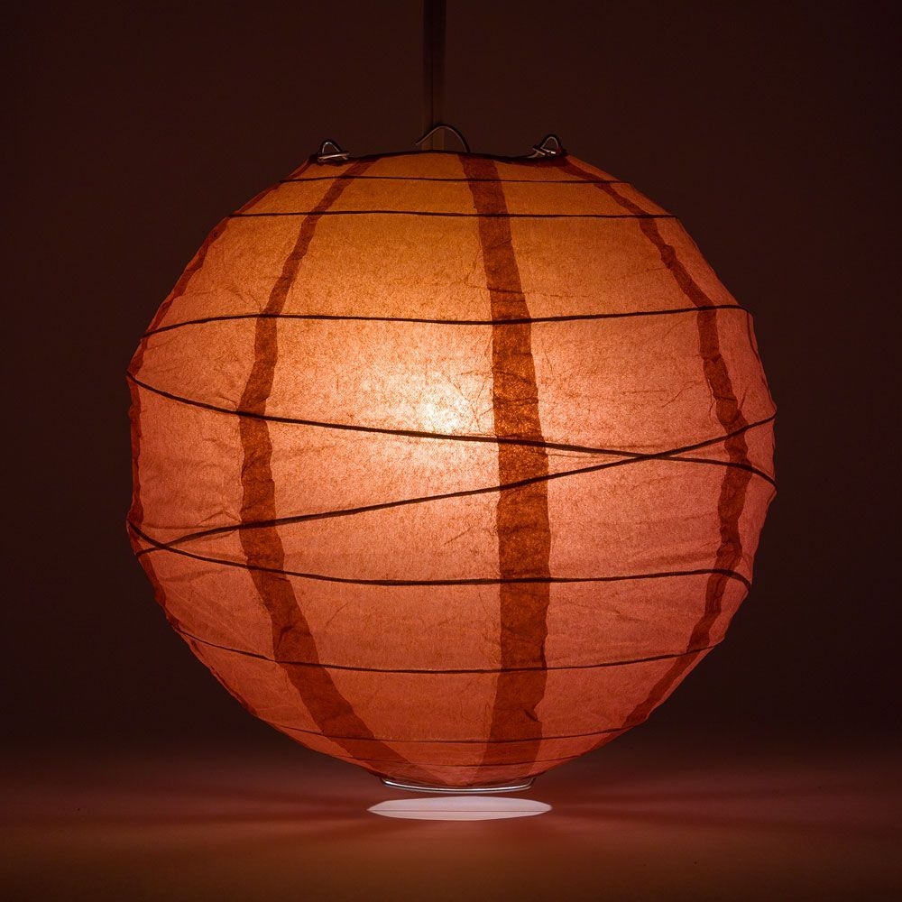 "6"" Marsala / Burgundy Wine Round Paper Lantern, Crisscross Ribbing, Chinese Hanging Wedding & Party Decoration - PaperLanternStore.com - Paper Lanterns, Decor, Party Lights & More"