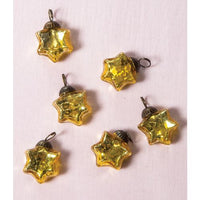 "6 Pack | 1.5"" Gold Imogen Mercury Glass Star Ornaments Christmas Tree Decoration"