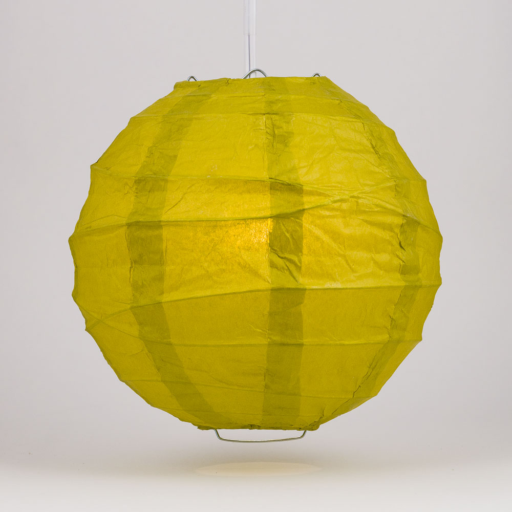 "6"" Pear Round Paper Lantern, Crisscross Ribbing, Chinese Hanging Wedding & Party Decoration"