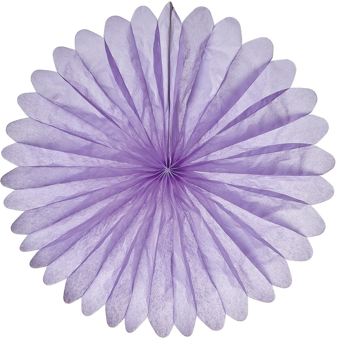 BLOWOUT Lilac Purple 19 Inch Hanging Paper Fan - PaperLanternStore.com - Paper Lanterns, Decor, Party Lights & More