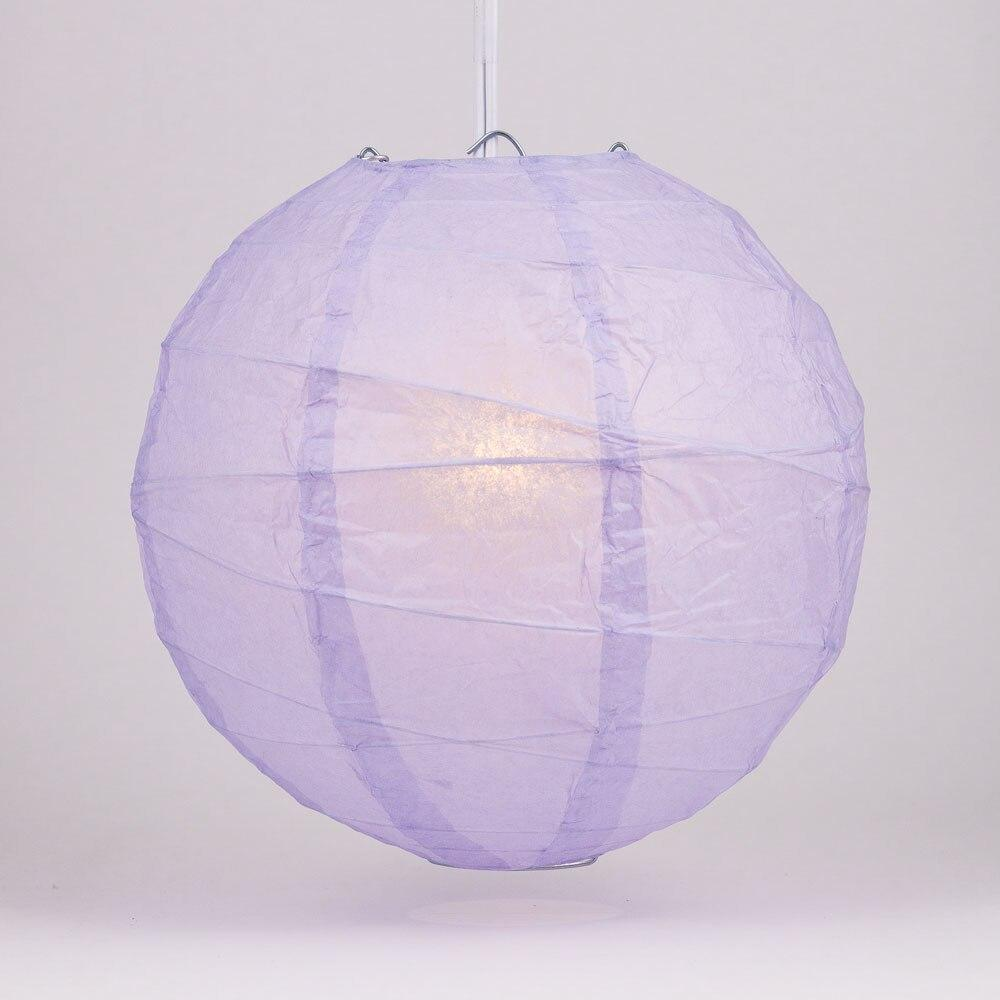 "BULK PACK (12) 24"" Lavender Round Paper Lantern, Crisscross Ribbing, Chinese Hanging Wedding & Party Decoration - PaperLanternStore.com - Paper Lanterns, Decor, Party Lights & More"