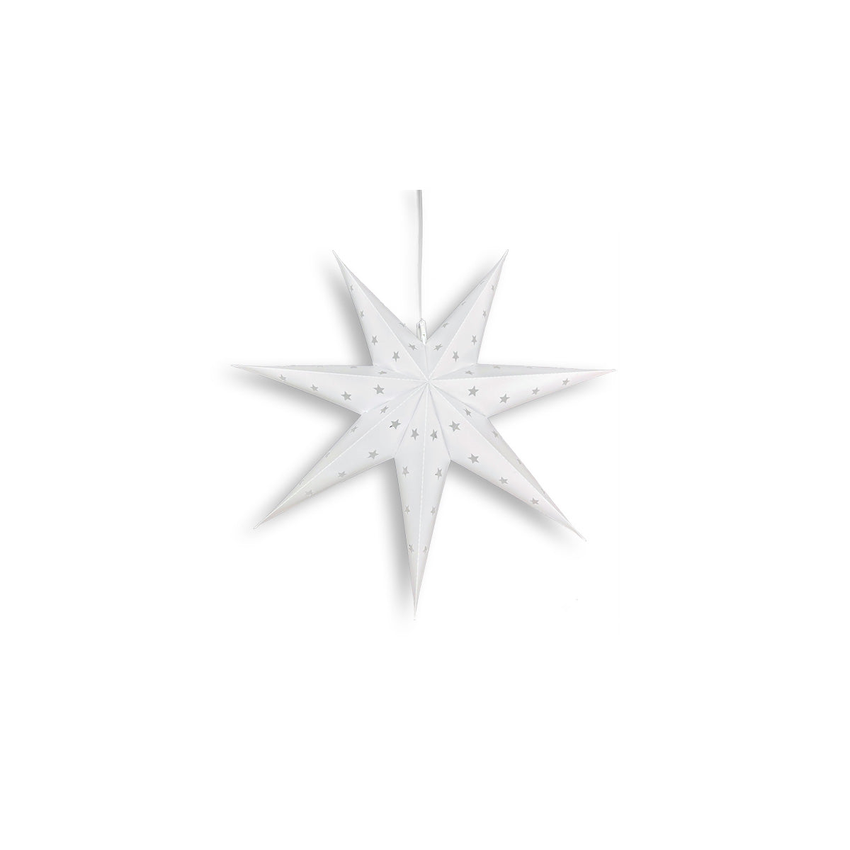 "12"" White 7-Point Weatherproof Star Lantern Lamp, Hanging Decoration (Estimated Arrival: 5/25/21)"