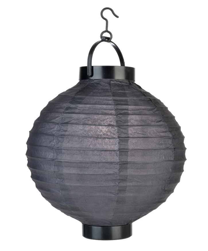 "BLOWOUT 8"" ""Budget Friendly"" Battery Operated LED Paper Lantern - Black"